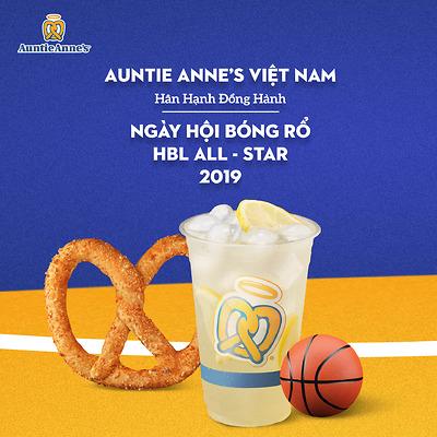 Auntie Anne's đồng hành cùng Giải bóng rổ HBL All Star 2019
