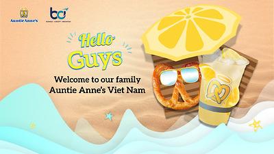 Auntie Anne's Việt Nam chính thức ra mắt tại Hà Nội