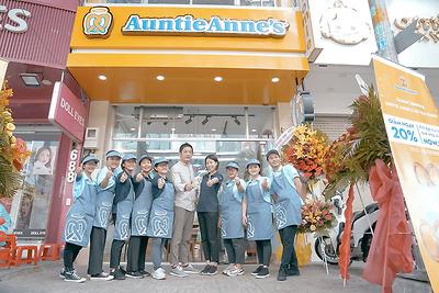 Auntie Anne's chính thức đổ bộ Thành phố Hồ Chí Minh